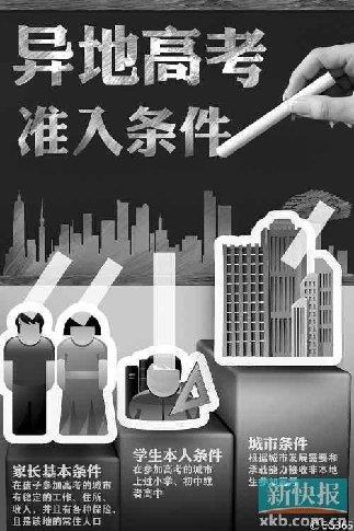 广东放开异地高考 父母一方提供在广东居住证
